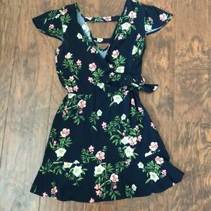 Xhilaration Navy Floral Dress Size Small